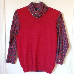 2 Piece Set Vest with Button Down Shirt Boy Size 8